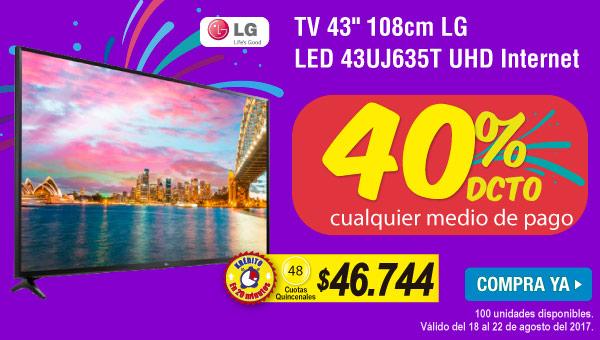 TV 43 108cm LG LED 43UJ635T UHD Internet - banner destacados