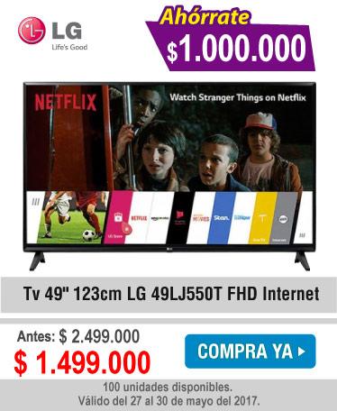 Tv 49 123cm LG 49LJ550T FHD Internet - banner oferta