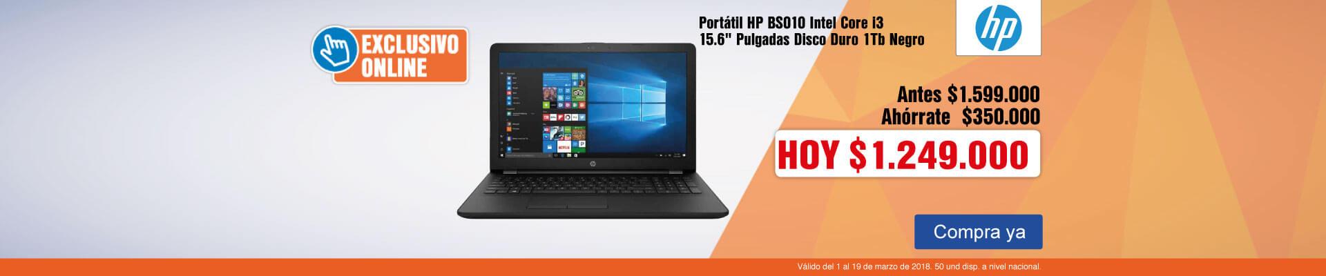 PPAL AK-3-computadores-Portátil HP BS010 Intel Core i3 15.6