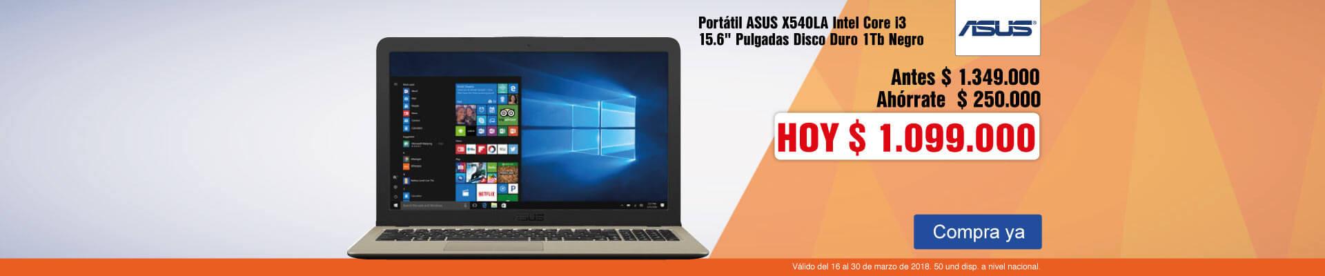 PPAL AK-3-computadores-Portátil ASUS X540LA Intel Core i3 15.6