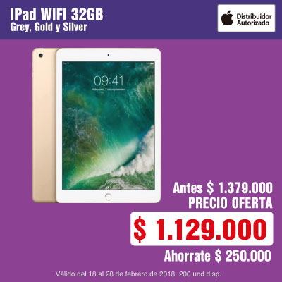 BIG AK-1-tablets-iPad WiFi 32GB grey, gold y silver-cat-febrero21/23