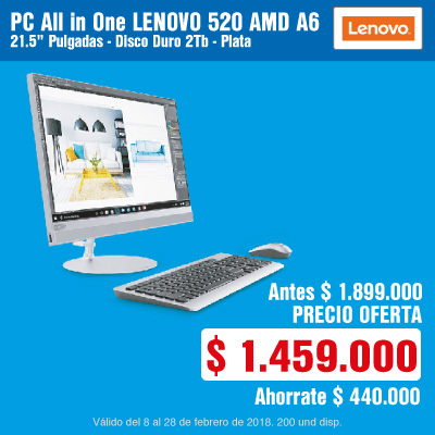 BIG AK-2-computadores-PC All in One LENOVO 520 AMD A6 21.5