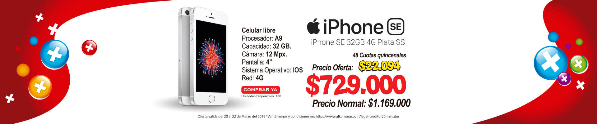 BP ALKP iPhone SE 32GB 4G Plata SS