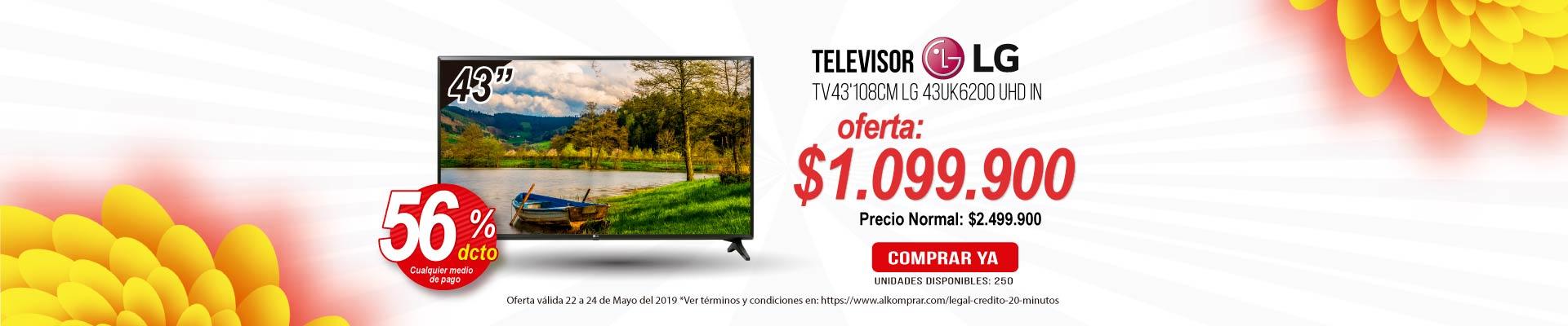 BP ALKP Tv43'108cm LG 43UK6200 UHD In