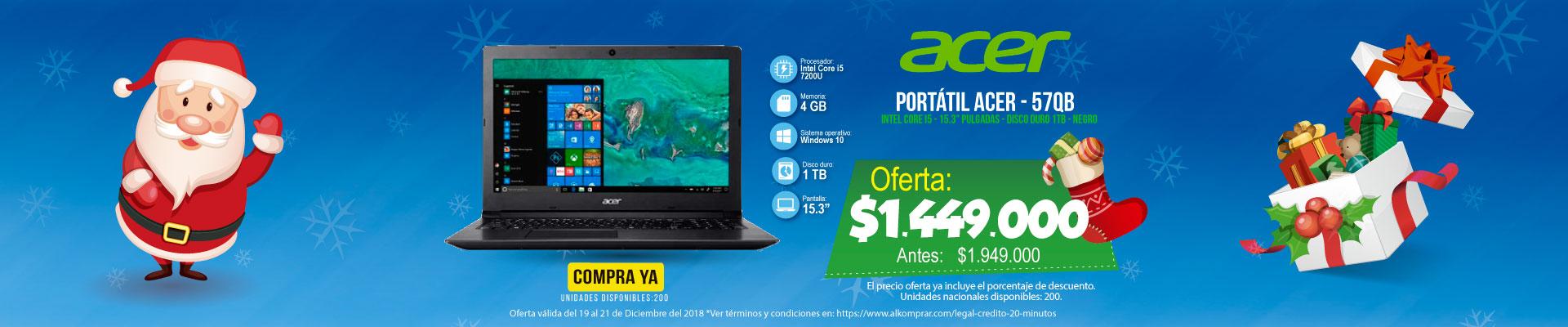 BP ALKP  Portatil 15' Acer 57QB Ci5 Ng