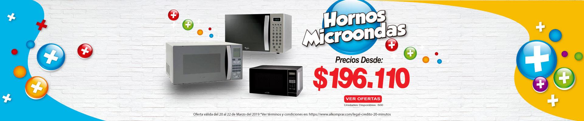 BP ALKP HORNOS MICROHONDAS PREIOS DESDE $196.110