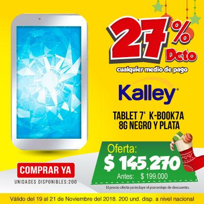 BT ALKP Tablet 7' Kalley K-BOOK7A 8G negro y plata