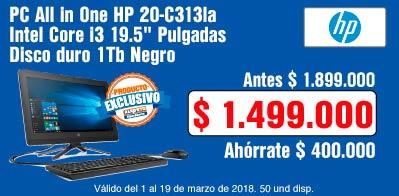TCAT AK-6-computadores-PC All in One HP 20-C313la Intel Core i3 19.5
