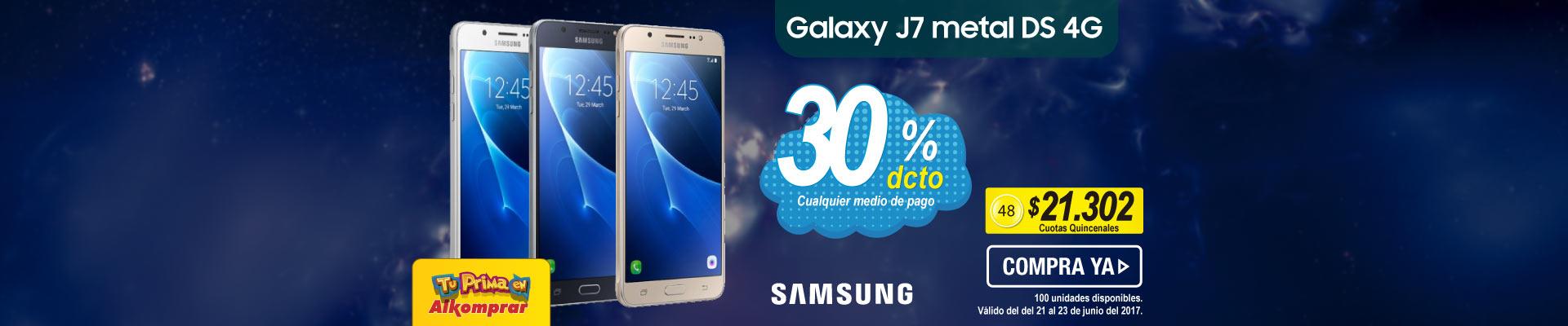 Celular SAMSUNG Galaxy J7 Metal DS 4G - banner principal