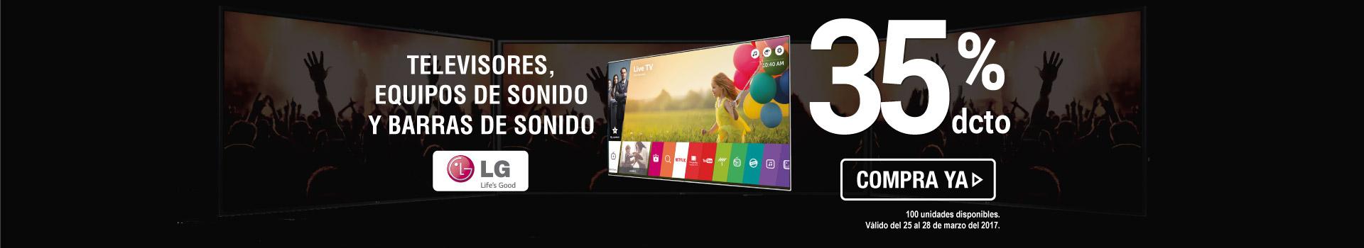 35 Dto tv y equipos LG -  tv y video