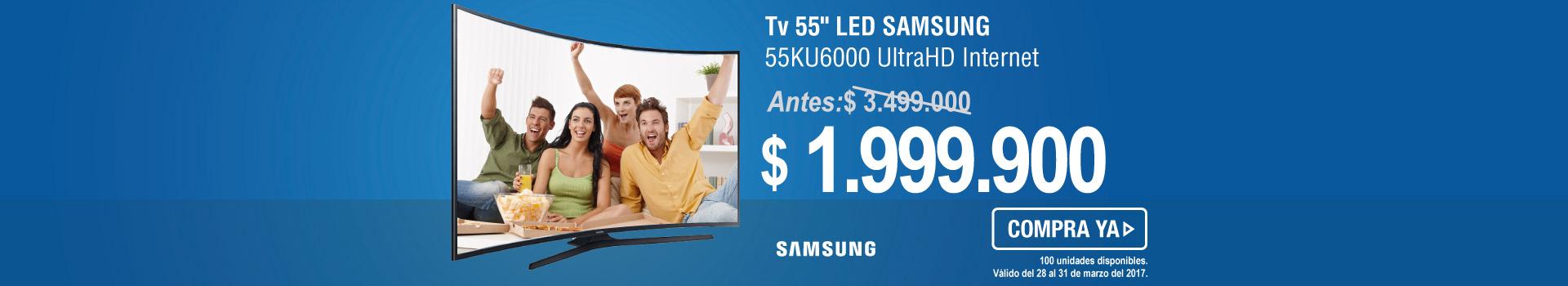 TV 49 124cm LED SAMSUNG 49KU6300 UHD - banner principal