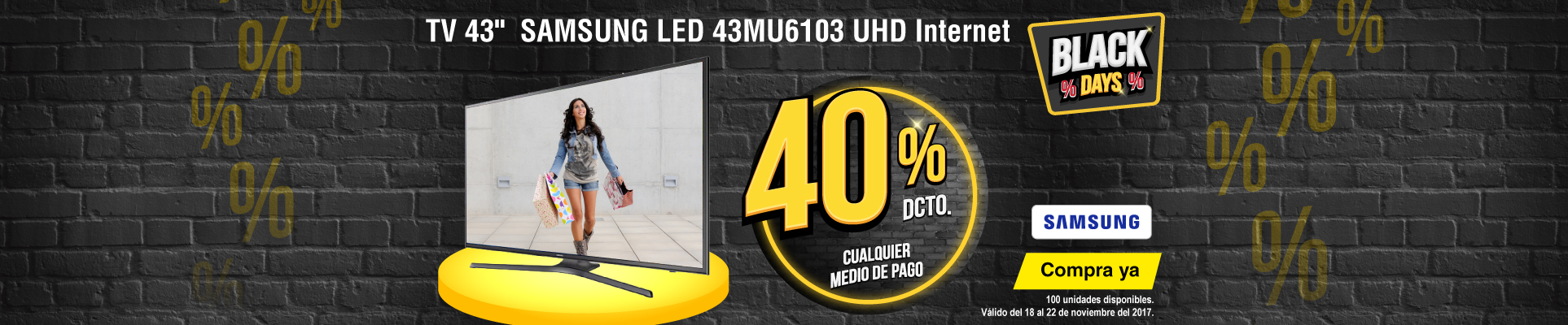 CAT ALKP-3-tv-tTV 43 108cm SAMSUNG LED 43MU6103 UHD Internet-prod-noviembre22