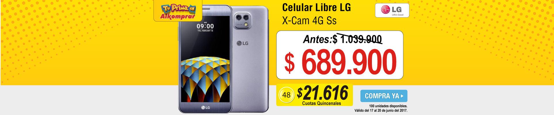 Celular Libre LG X-Cam 4G Ss  - banner principal