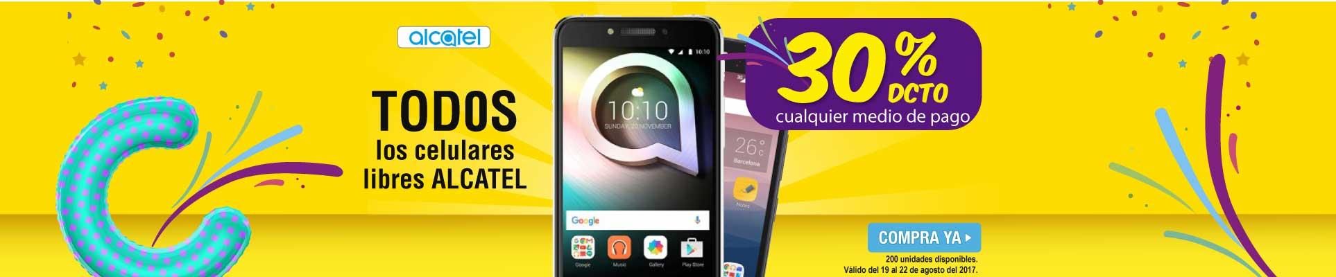 30 Dto. celulares Alcatel - banner principal