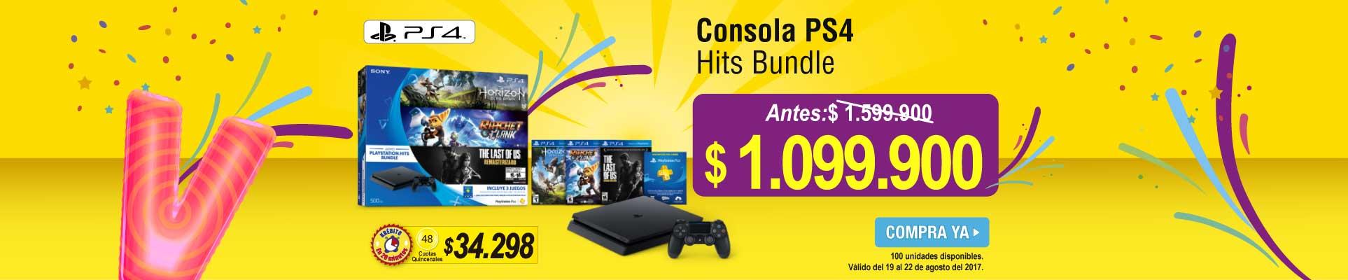 Consola PS4 Hits Bundle - banner principal