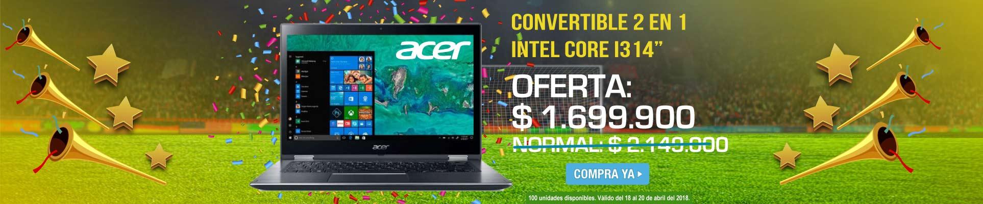 PPAL ALKP-4-computadores-Convertible 2 en 1 ACER - SP3314K - Intel Core I3 - 14-prod-Abril18-20