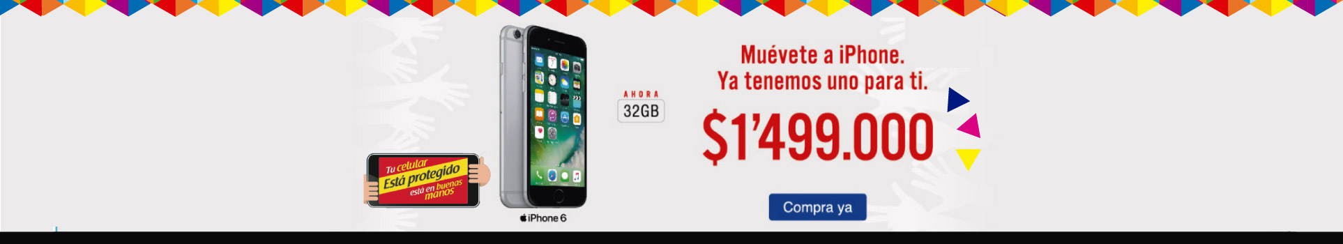 iPhone 6 32GB 4G Gris - celulares