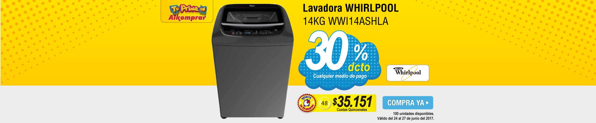 Lavadora WHIRLPOOL 14KG WWI14ASHLA - banner prinicipal