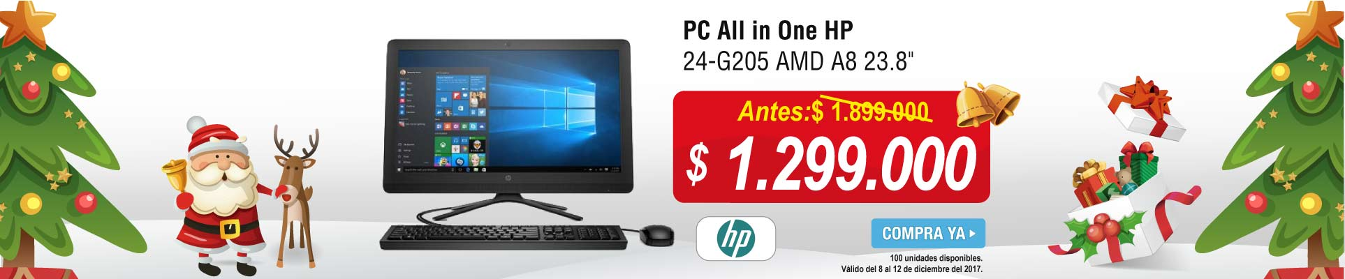 CAT ALKP-3-computadores-PC All in One HP 24-G205 AMD A8  23.8-prod-diciembre8-12-marcas