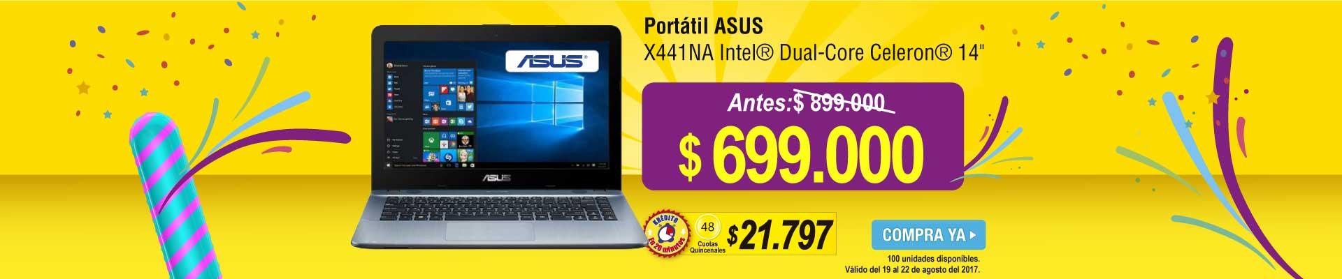 Portátil ASUS - X441NA - Intel® Dual-Core Celeron® - informatica