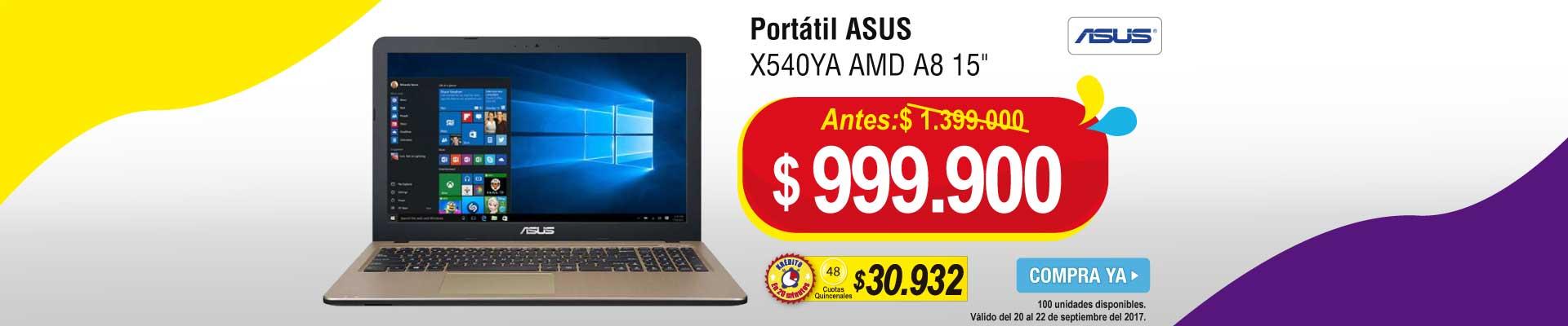 PPAL ALKP-3-computadores-Portátil ASUS X540YA-prod-septiembre20-22