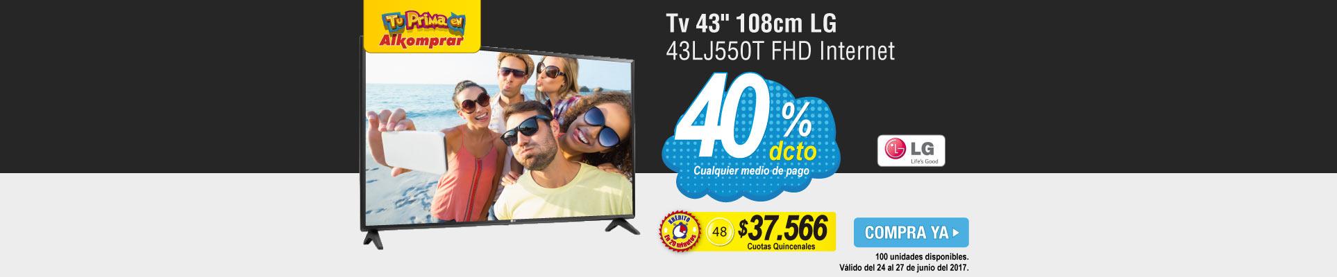 Tv 43 108cm LG 43LJ550T FHD Internet - banner principal