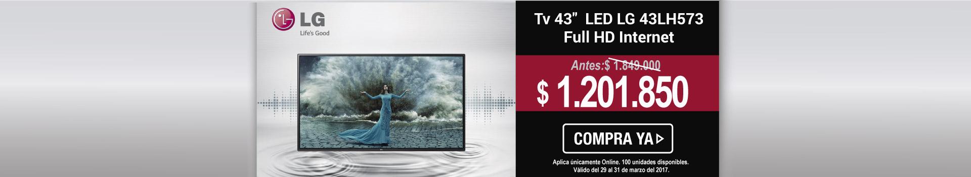 Tv 43 108 cm LED LG 43LH573 Full HD Internet - banner principal