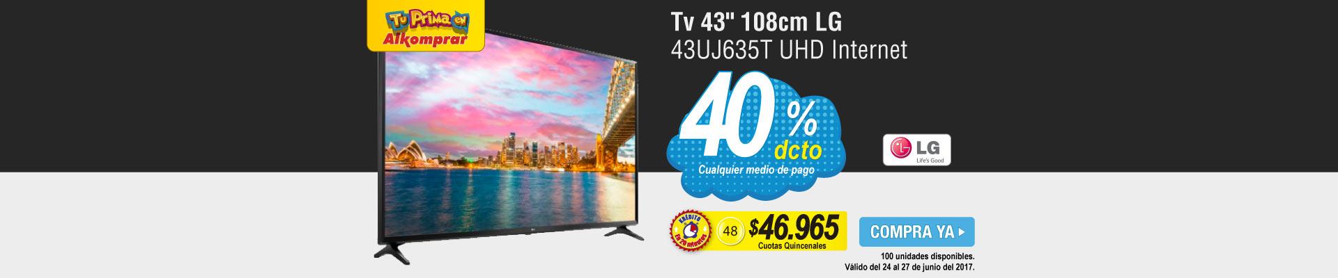 Tv 43 108cm LG 43UJ635T UHD Internet - banner principal