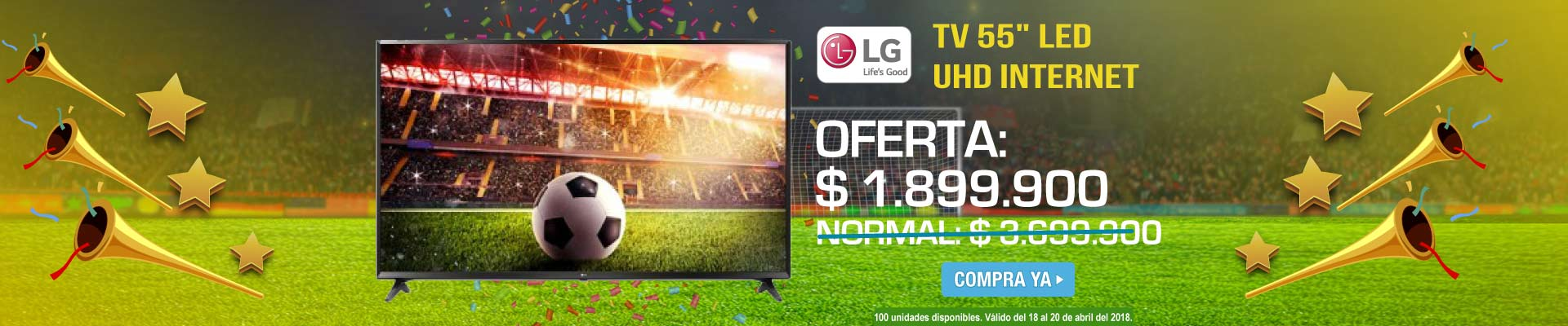 PPAL ALKP-3-TV-Tv 55 139cm LG LED 55UJ635 UHD Internet-prod-Abril18-20