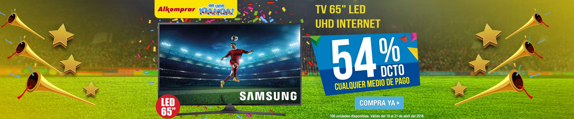PPAL ALKP-1-TV-TV 65 165cm SAMSUNG LED 65MU6100 UHD Internet-prod-Abril18-20