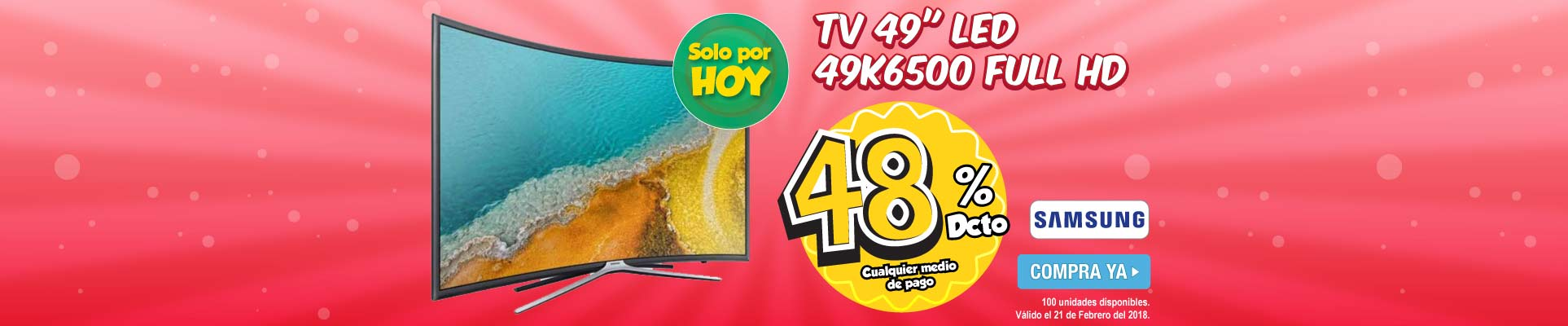 PPAL ALKP-1-tv-TV 49 124cm SAMSUNG LED 49K6500 Full HD-prod-Febrero21