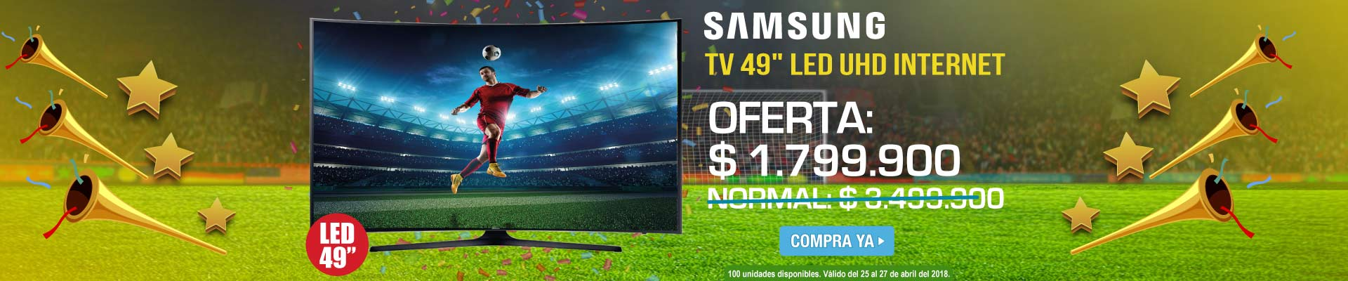 CAT ALKP-1-TV-TV 49 124cm SAMSUNG LED 49MU6300 UHD Internet-prod-Abril25-27