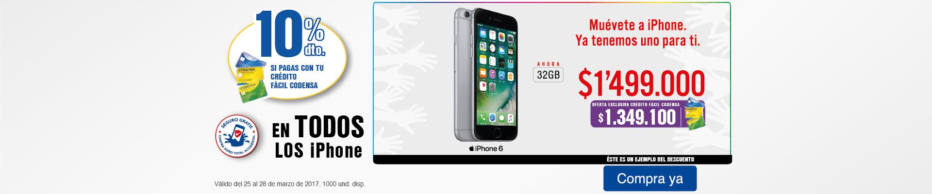 Bppal KT - 10% dto en TODOS los iPhone con Crédito Fácil Codensa - Mar25