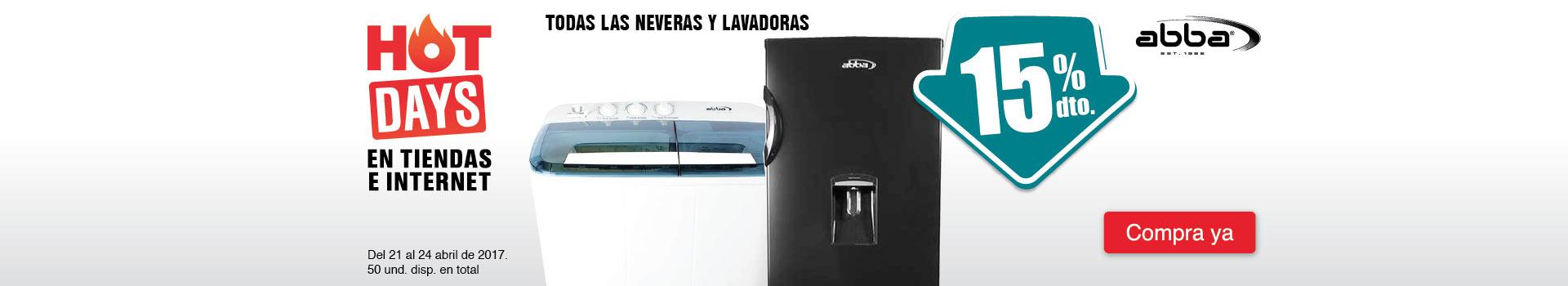 CAT NEV - 15%Dto en TODAS las neveras y lavadoras ABBA
