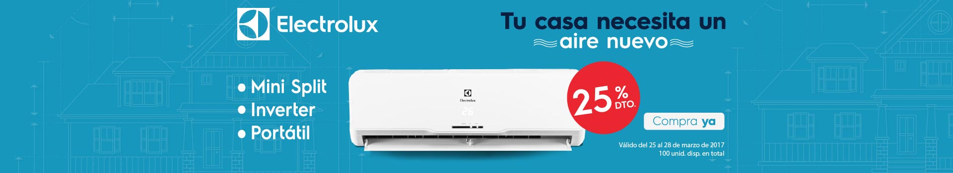 CAT AIRES - marzo 25 - 25%Dto en Aires Acondicionados ELECTROLUX Ref. Seleccionadas