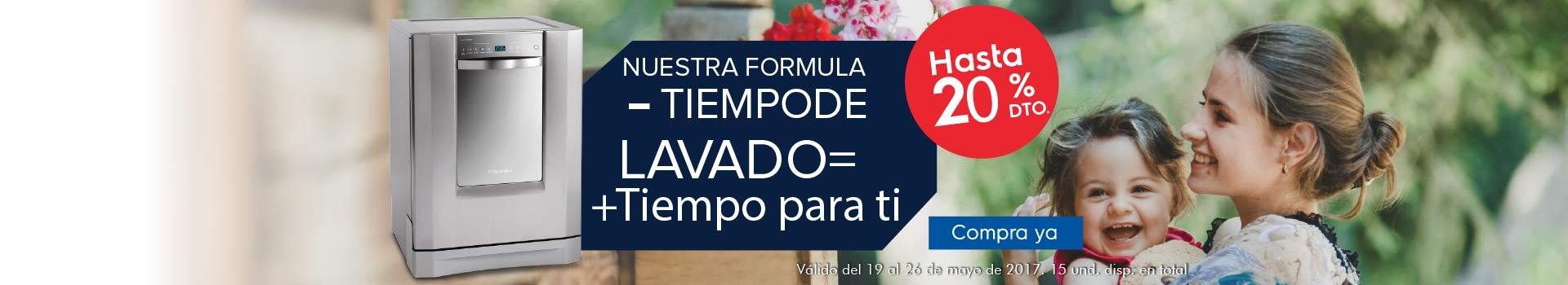 CAT LAVAPLAT - mayo 20 - Hasta 20%Dto en Lavaplatos ELECTROLUX