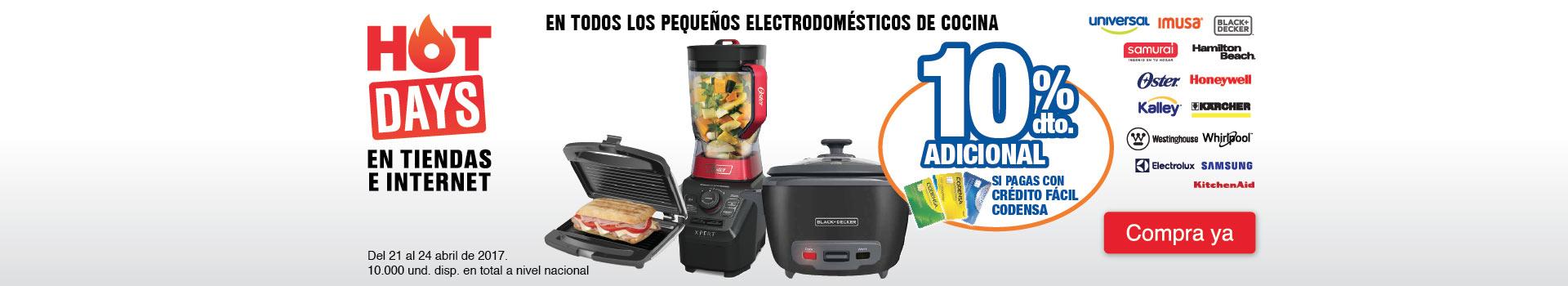 CAT PREP - abril 21 - 10% adicional pagando con tu CFC en todos los Pequeños electrodomesticos de cocina de las marcas seleccionadas