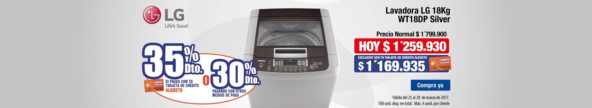 CAT ELECT - marzo 25 - Lavadora LG 18Kg WT18DP Silver