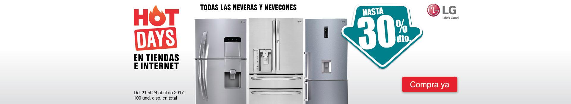 CAT NEV - abril 21 - Hasta 30%Dto en TODAS las neveras y nevecones marca LG