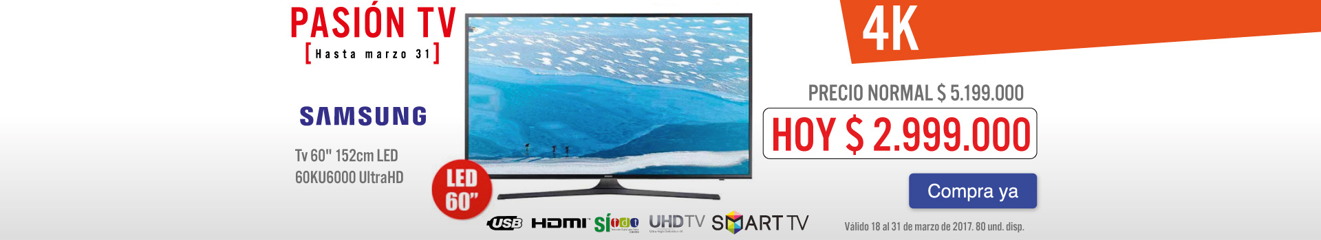 OPC -TV SG 60KU6000 - Mrz 22