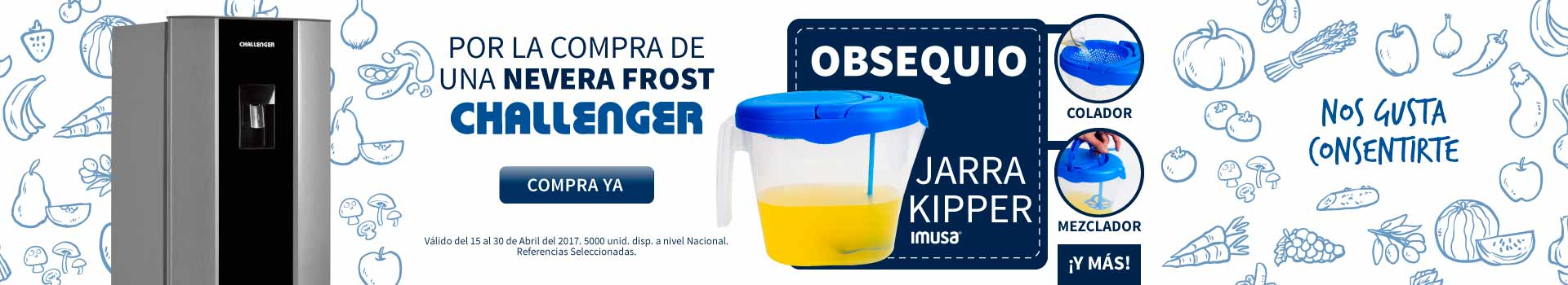 CAT ELECT - abril 15 - Obsequios CHALLENGER Neveras FROST