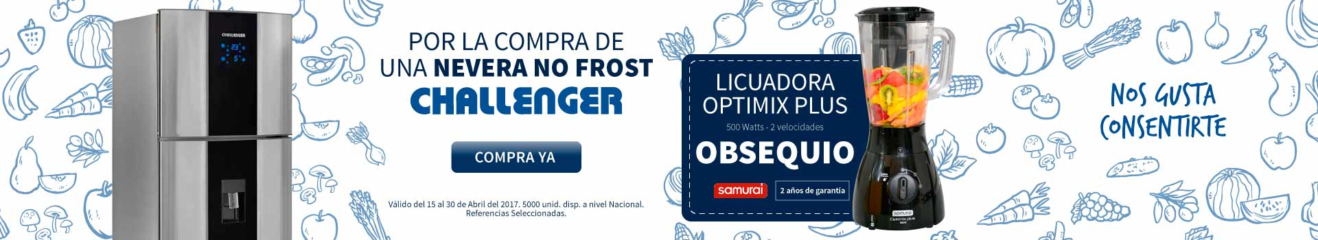 CAT NEV - abril 15 - Obsequios CHALLENGER Neveras NO FROST