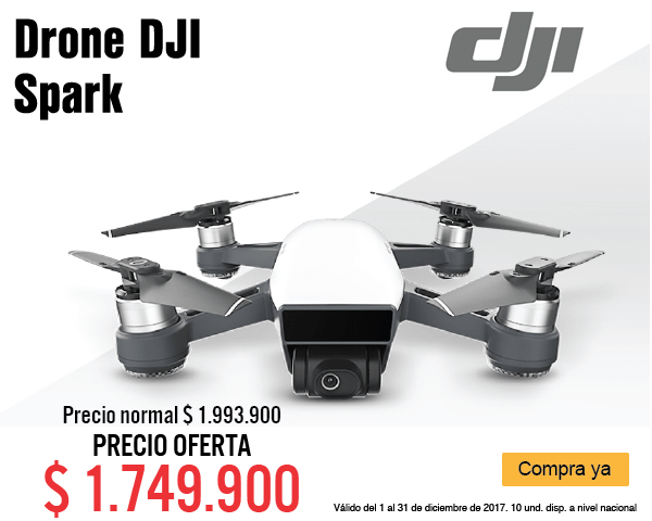 MENU Drone DJI Spark 8 dic