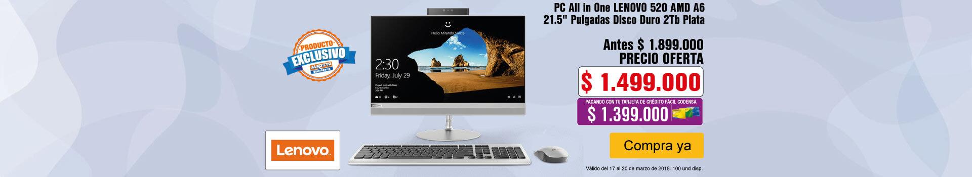 HIPER AK-KT-2-computadores-PC All in One LENOVO 520 AMD A6 21.5