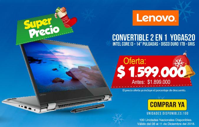 HT OFERTA Convertible 14' Lenovo YOGA 520 Ci3 GrII