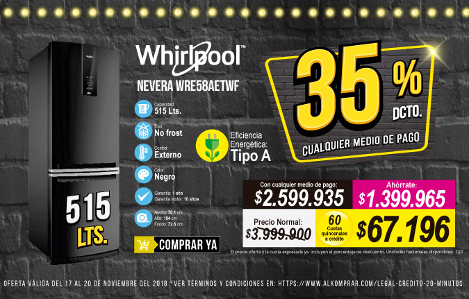 HT OFERTA NEVERA WHIRPOOL