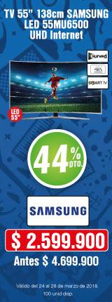 MENU TELEVISOR Samsung55MU65-TV-Marzo 24-27
