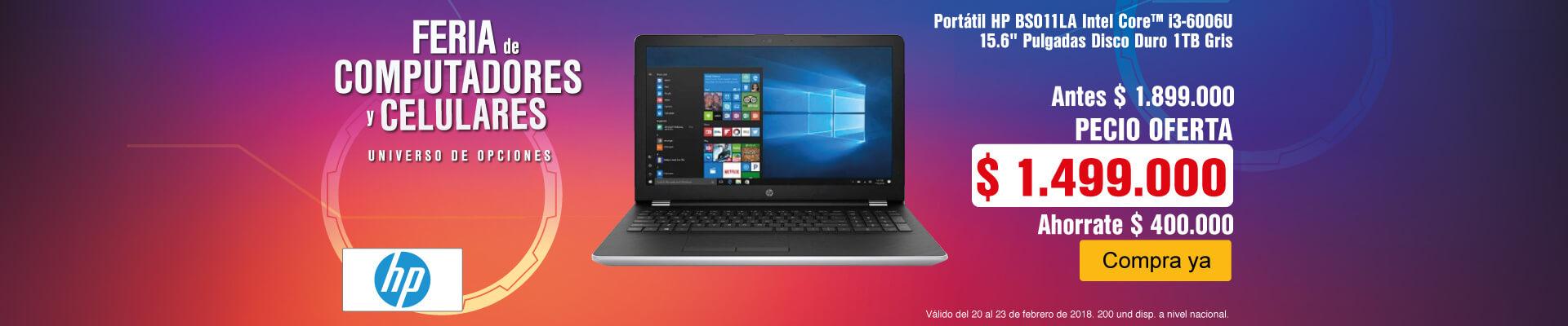 PPAL AK-2-computadores-Portátil HP BS011LA Intel Core™ i3-6006U 15.6