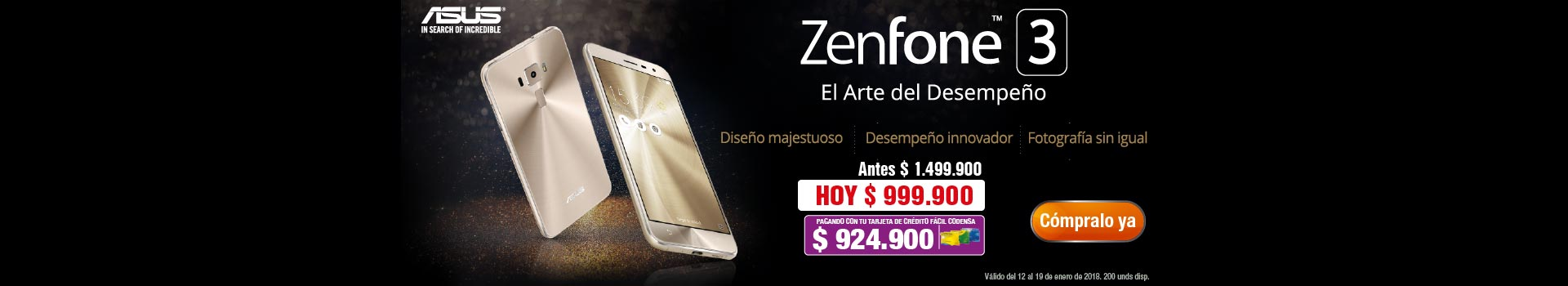EXP AK KT ASUS -CAT-2-celulares-Zenfone3Dorado-prod-enero-13/16
