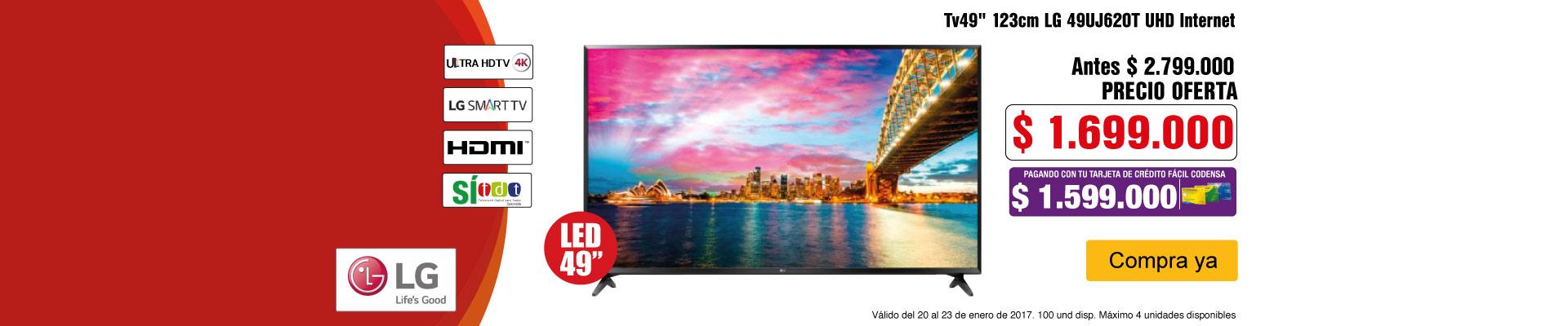 PPAL AK-3-TELEVISOR LG 49UJ620-TV-ENERO20/23